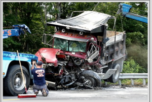 Tractor-trailer crash